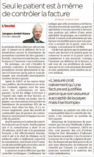 Article 24 Heures - 16.02.18
