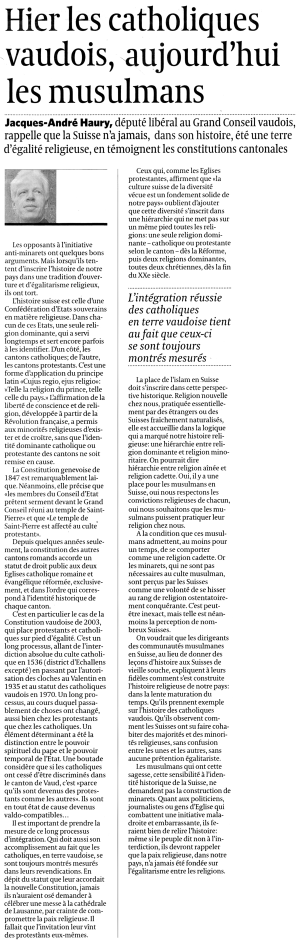 Article Le Temps - 29.10.09